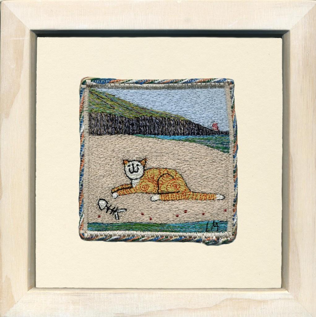 Linda Miller. Beach Snack. Machine embroidery. £90.00
