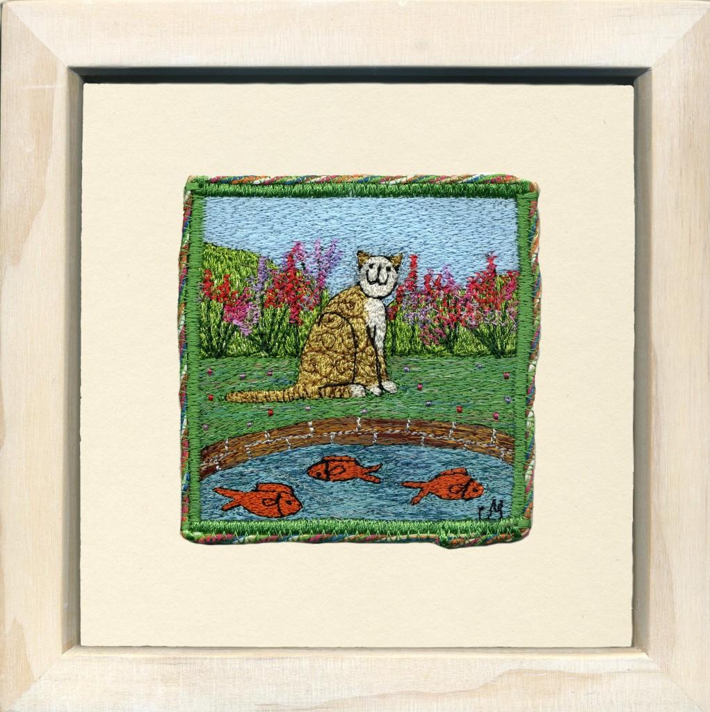 Linda Miller. Goldfish Pond. Machine embroidery. £90.00