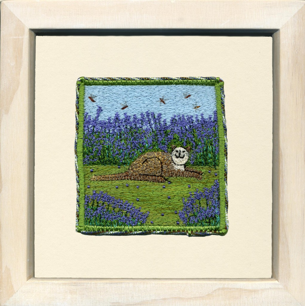 Linda Miller. In Amongst the Lavender. Machine embroidery. £90.00