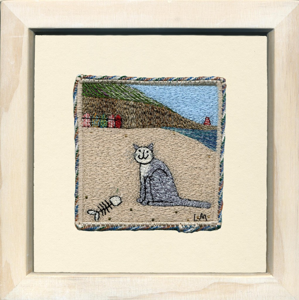 Linda Miller. The Finished Meal. Machine embroidery. £90.00
