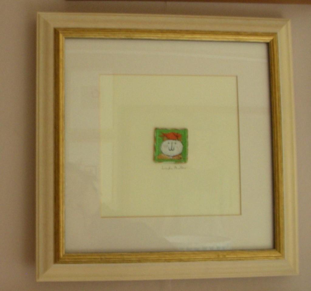 Linda Miller. Ginger balancing a Goldfish. Machine embroidery. £60.00