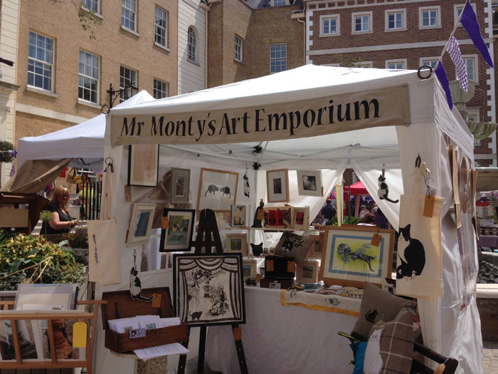 Mr Monty's Feline Art Emporium at The Duck Pond Market, Richmond
